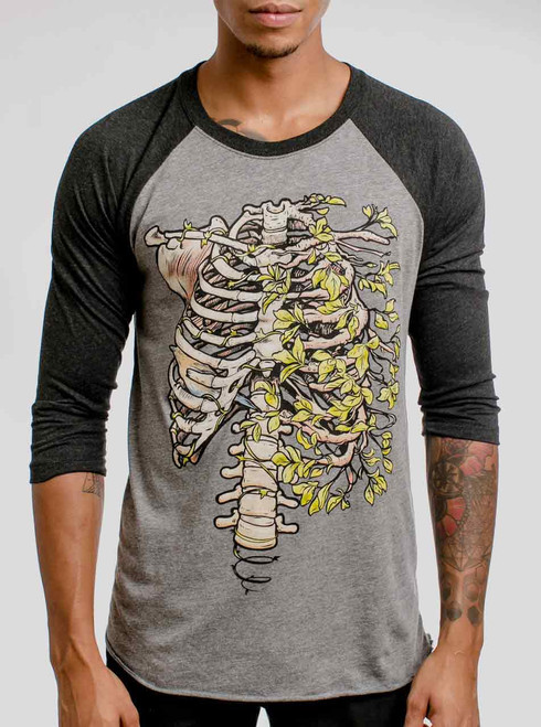 Ribs - Multicolor on Heather Grey and Black Triblend Raglan