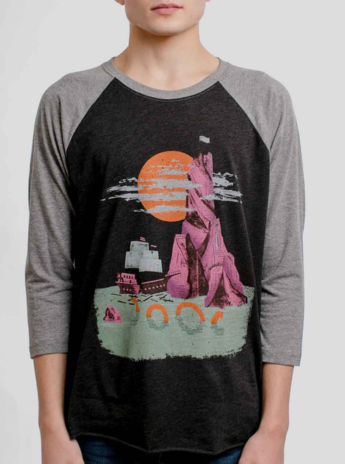 Shipwreck - Multicolor on Heather Black and Grey Triblend Raglan