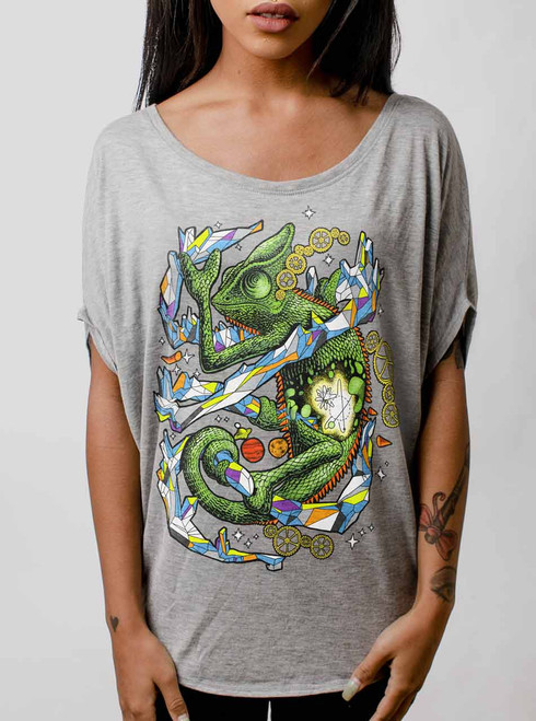 Chameleon - Multicolor on Athletic Heather Women's Circle Top