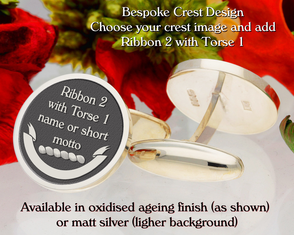 Ribon 2 with Torse 1 - add element to enhance crest image