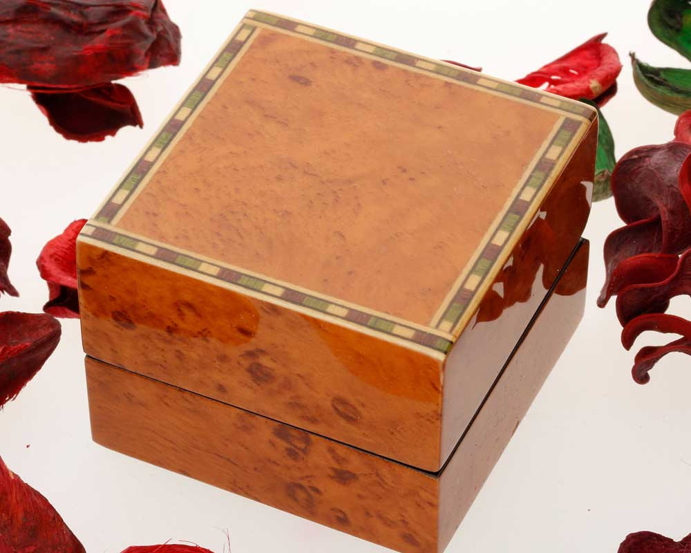 Deluxe Walnut Finish Earring Box (extra cost)