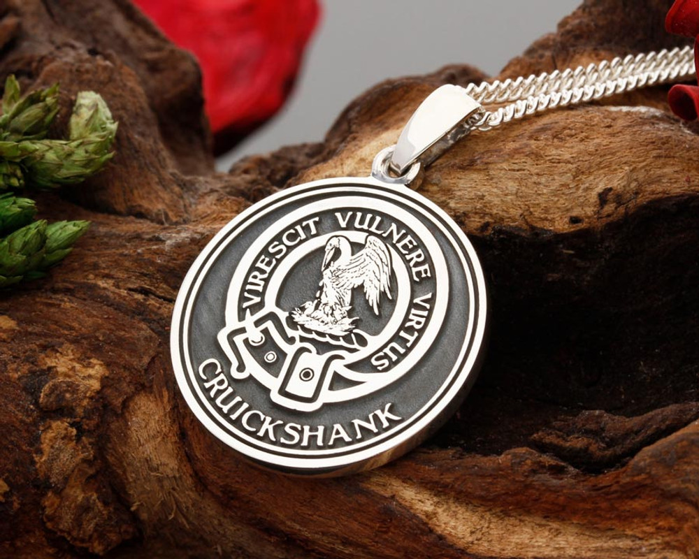 Scottish clan design sterling silver pendants custom engraved stewart example reverse engraved with personalised bottom text aloadofball Image collections