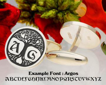 Tree of Life Bespoke initial cufflinks
