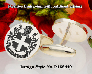 Saint Clair / St Clair Family Crest Cufflinks