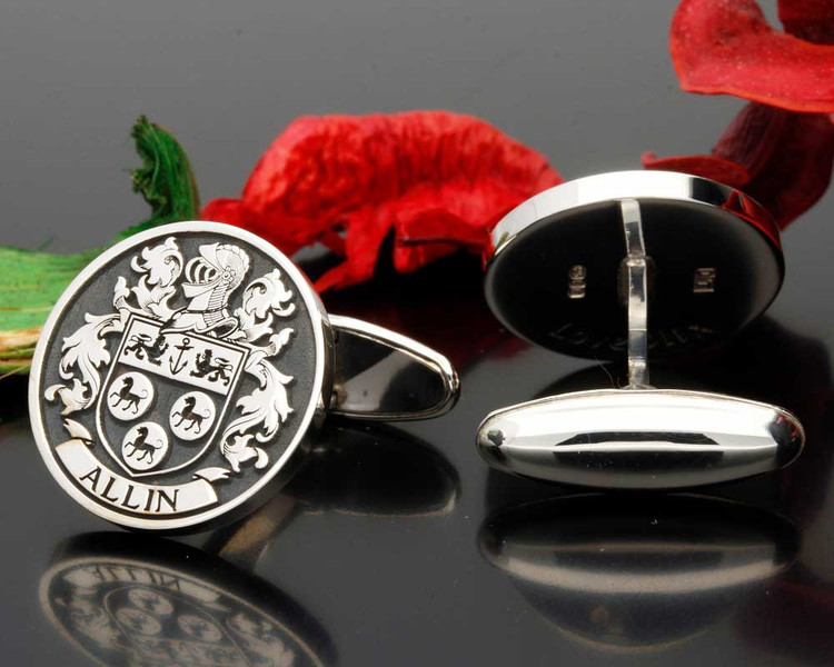Allen or Allin Family Crest Cufflinks