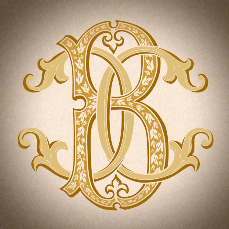Victorian Monogram BC CB - hand drawn design, graphic design only - download