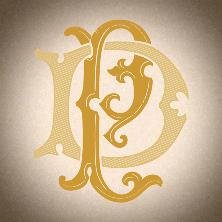 Victorian Monogram DP PD D1 - hand drawn design, graphic design only - download
