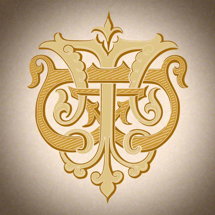 Victorian Monogram BT TB D1 - hand drawn design, graphic design only - download