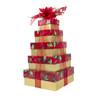 Festive Poinsettia 5 Tier Tower – Set of 5 Boxes - Case Pk. 8