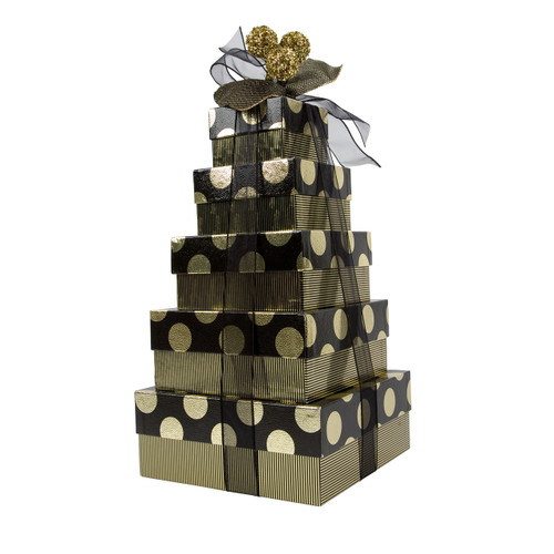 Gold Dots 5 Tier – Set of 5 Boxes - Case Pk. 8