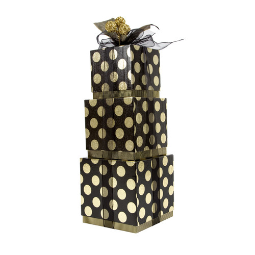 Gold Dot 3 Tier Cube Boxes