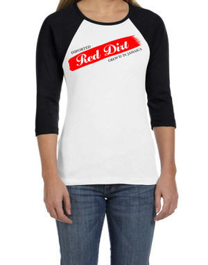 BlackCotton | Red Dirt Premier Raglan Ladies Tee WH-BLK