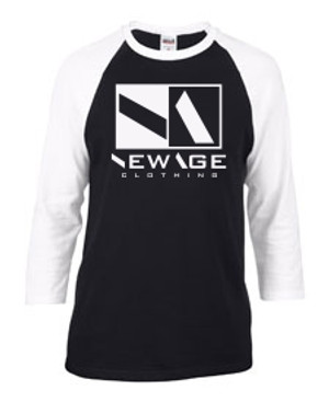 New Age Clothing | Premier WHT-BLK - WHT Raglan