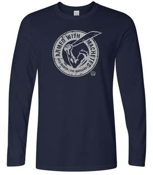 Hispaniola Port & Trade Company AWM Since 1804 Long Sleeve Crew Navy