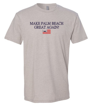 Marvelous Artz - Make Palm Beach Great Again Humble Grey T-shirt