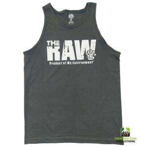 "- Rep Ur Hood ""Raw Environment"" Dark Grey Tank"