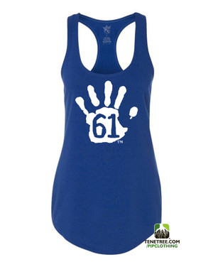 PC RUH Hand61 Ladies Royal Scalloped Racerback Tank