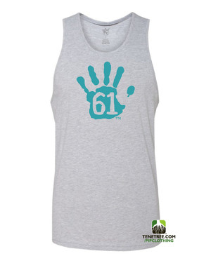 "Pipclothing - Rep Ur Hood ""Hand61"" Light Heather Grey-Carolina Blue Tank"