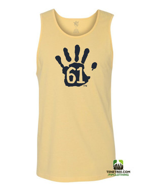 "Pipclothing - Rep Ur Hood ""Hand61"" Banana Yellow-Navy Tank"