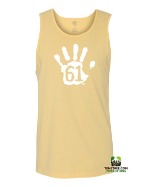 "Pipclothing - Rep Ur Hood ""Hand61"" Banana Yellow-White Tank"