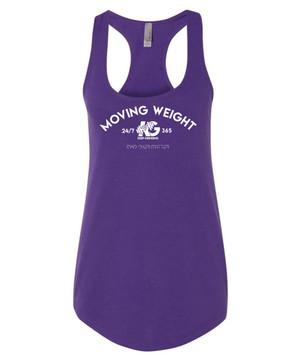 Keep Grinding Apparel | Moving Weight - Purple Racerback Slim-Fit Tank