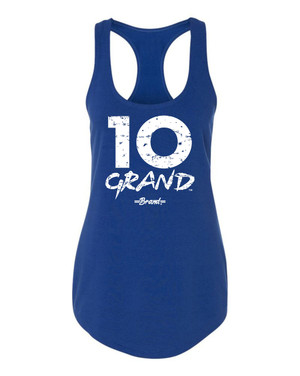 10 Grand Brand | 10GB - Royal - White Racer Tank