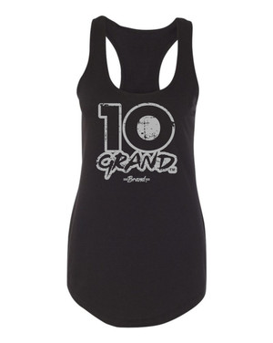 10 Grand Brand | 10GB OF - Black - Cool Grey Racer Tank