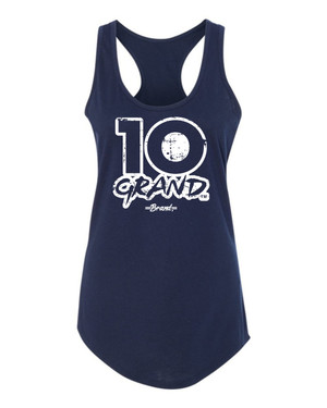 10 Grand Brand | 10GB OF - Navy - White Racer Tank