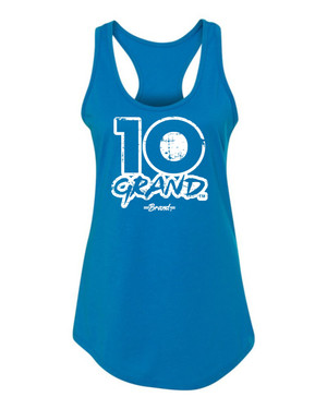 10 Grand Brand | 10GB OF - Turquoise - White Racer Tank
