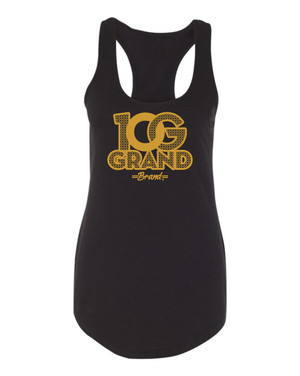 10 Grand Brand | 0G - Black - Gold Racer Tank
