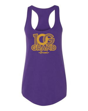 10 Grand Brand | 0G - Purple - Gold Racer Tank