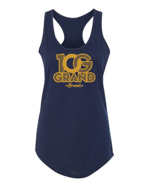 10 Grand Brand | 0G - Navy - Gold Racer Tank