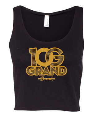 10 Grand Brand | 0G - Black - Gold Crop Tank