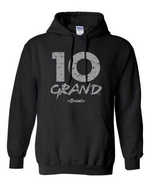 10 Grand Brand | 10GB - Black - Cool Grey Hoodie
