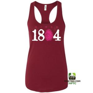 Hispaniola Port & Trade Company Since 1804 Ladies Racerback Tank Top Cardinal White Hot Pink