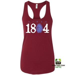 Hispaniola Port & Trade Company Since 1804 Ladies Racerback Tank Top Cardinal White Light Blue