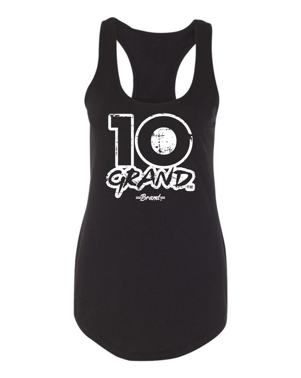 10 Grand Brand | 10GB OF - Black - White Racer Tank