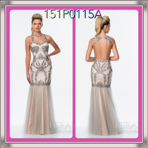 Terani 151P0115A  BEFORE $399.00    NOW $269.00   NUDE/SILVER SIZE 8,12   FOR PRICE OR MORE IMFORMATION PLEASE GIVE US A CALL  VIA MIMI FASHION  1333 S. SANTEE ST   LA,CA.90015  TEL: (213)748-MIMI (6464)  FAX: (213)749-MIMI (6464)  E-Mail: mimi@viamimifashion.com  https://www.facebook.com/viamimifashion  https://www.instagram.com/viamimifashion  https://twitter.com/viamimifashion