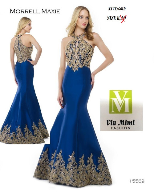 MORRELL MAXIE 15569  COLOR: NAVY/GOLS AS THE SAMPLE  SIZES: 8 ONLY  BEFORE $499.00 NOW $289.00   MIKADO  FOR MORE IMFORMATION AND PRICE PLEASE GIVE US A CALL  WE BEAT  ALL PRICES !!!!  VIA MIMI FASHION  1333 S. SANTEE ST.  LA,CA.90015  TEL: (213)748-MIMI (6464)  FAX: (213)749-MIMI (6464)  E-Mail: mimi@viamimifashion.com  https://www.facebook.com/viamimifashion     https://www.instagram.com/viamimifashion