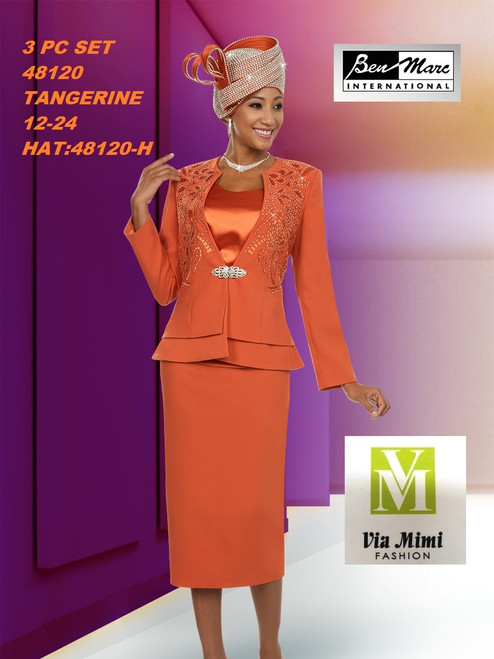 BEN MARC STYLE #48120  3 PC   SET  COLOR: TANGERINE   SIZE : 12-24  HAT: 48120-H  FOR MORE IMFORMATION AND PRICE PLEASE GIVE US A CALL   WE BEAT  ALL PRICES !!!!  VIA MIMI FASHION  1333 S. SANTEE ST.  LA,CA.90015  TEL: (213)748-MIMI (6464)  FAX: (213)749-MIMI (6464)  E-Mail: mimi@viamimifashion.com  http://viamimifashion.com  https://www.facebook.com/viamimifashion    https://www.instagram.com/viamimifashion  https://twitter.com/viamimifashion
