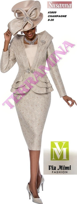 SUSANA STYLE #3809 - 3 PC SET  COLOR: CHAMPAGNE  SIZE: 8-26  FOR MORE IMFORMATION AND PRICE PLEASE GIVE US A CALL   WE BEAT  ALL PRICES !!!!  VIA MIMI FASHION  1333 S. SANTEE ST.  LA,CA.90015  TEL: (213)748-MIMI (6464)  FAX: (213)749-MIMI (6464)  E-Mail: mimi@viamimifashion.com  http://viamimifashion.com  https://www.facebook.com/viamimifashion    https://www.instagram.com/viamimifashion  https://twitter.com/viamimifashion