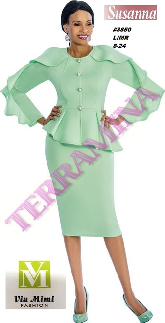 SUSANA STYLE #3850 - 2 PC SET  COLOR: MINT  SIZE: 8-24  FOR MORE IMFORMATION AND PRICE PLEASE GIVE US A CALL   WE BEAT  ALL PRICES !!!!  VIA MIMI FASHION  1333 S. SANTEE ST.  LA,CA.90015  TEL: (213)748-MIMI (6464)  FAX: (213)749-MIMI (6464)  E-Mail: mimi@viamimifashion.com  http://viamimifashion.com  https://www.facebook.com/viamimifashion    https://www.instagram.com/viamimifashion  https://twitter.com/viamimifashion