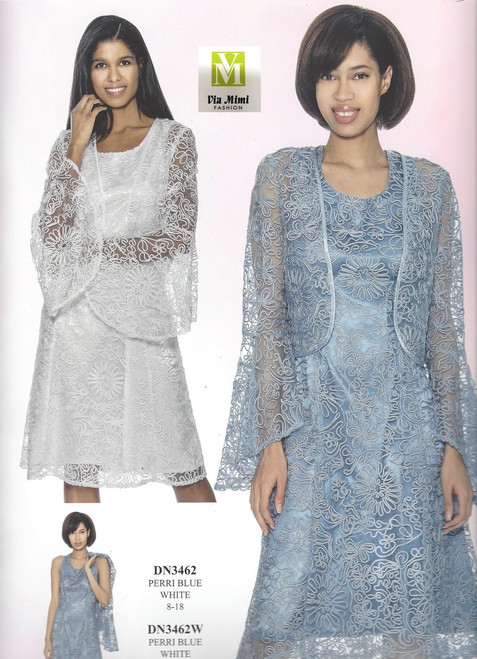 DRESSES BY NUBIANO #DN3462___2 PC DRESS/JACKET  COLOR: PERRI BLUE , WHITE  SIZE: 8-18 ____ 16W-26W  FOR MORE IMFORMATION AND PRICE PLEASE GIVE US A CALL   WE BEAT  ALL PRICES !!!!  VIA MIMI FASHION  1333 S. SANTEE ST.  LA,CA.90015  TEL: (213)748-MIMI (6464)  FAX: (213)749-MIMI (6464)  E-Mail: mimi@viamimifashion.com  http://viamimifashion.com  https://www.facebook.com/viamimifashion    https://www.instagram.com/viamimifashion  https://twitter.com/viamimifashion