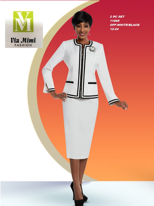 EXECUTIVE #11665__  2 PC SET  COLOR: OFF WHITE/BLACK  SIZE: 12-24  FOR MORE IMFORMATION AND PRICE PLEASE GIVE US A CALL   WE BEAT  ALL PRICES !!!!  VIA MIMI FASHION  1333 S. SANTEE ST.  LA,CA.90015  TEL: (213)748-MIMI (6464)  FAX: (213)749-MIMI (6464)  E-Mail: mimi@viamimifashion.com  http://viamimifashion.com  https://www.facebook.com/viamimifashion    https://www.instagram.com/viamimifashion  https://twitter.com/viamimifashion