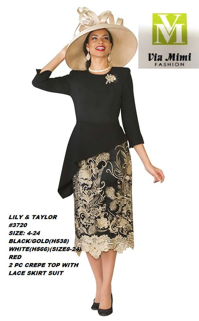 LILY & TAYLOR #3720 __  2 PC  SET  COLOR: BLACK/GOLD, WHITE, IVORY/GOLD, RED  SIZE: 4-24  FOR MORE IMFORMATION AND PRICE PLEASE GIVE US A CALL   WE BEAT  ALL PRICES !!!!  VIA MIMI FASHION  1333 S. SANTEE ST.  LA,CA.90015  TEL: (213)748-MIMI (6464)  FAX: (213)749-MIMI (6464)  E-Mail: mimi@viamimifashion.com  http://viamimifashion.com  https://www.facebook.com/viamimifashion    https://www.instagram.com/viamimifashion  https://twitter.com/viamimifashion