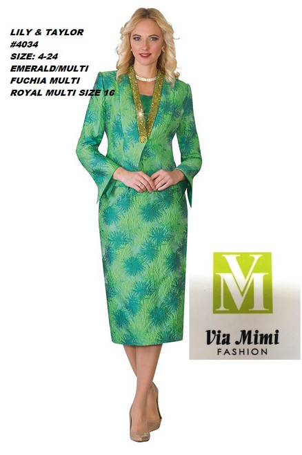 LILY & TAYLOR #4034__  3 PC  NOVELTY SUIT WITH RHINESTONES  COLOR: EMERAL/MULTI,  FUCHSIA/MULTI  SIZE: 4-24  FOR MORE IMFORMATION AND PRICE PLEASE GIVE US A CALL   WE BEAT  ALL PRICES !!!!  VIA MIMI FASHION  1333 S. SANTEE ST.  LA,CA.90015  TEL: (213)748-MIMI (6464)  FAX: (213)749-MIMI (6464)  E-Mail: mimi@viamimifashion.com  http://viamimifashion.com  https://www.facebook.com/viamimifashion    https://www.instagram.com/viamimifashion  https://twitter.com/viamimifashion