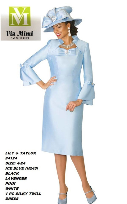 LILY & TAYLOR #4124__ 1 PC SILKY TWILL DRESS  COLOR: ICE BLUE (H243), BLACK, LAVENDER, PINK, WHITE  SIZE: 4-24  FOR MORE IMFORMATION AND PRICE PLEASE GIVE US A CALL   WE BEAT  ALL PRICES !!!!  VIA MIMI FASHION  1333 S. SANTEE ST.  LA,CA.90015  TEL: (213)748-MIMI (6464)  FAX: (213)749-MIMI (6464)  E-Mail: mimi@viamimifashion.com  http://viamimifashion.com  https://www.facebook.com/viamimifashion    https://www.instagram.com/viamimifashion  https://twitter.com/viamimifashion