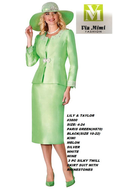LILY & TAYLOR #3800__ 3 PC SILKY TWILL SUIT  COLOR: PARISGREEN, BLACK, KIWI,MELON,SILVER,WHITE,WINE  SIZE:4-24  FOR MORE IMFORMATION AND PRICE PLEASE GIVE US A CALL   WE BEAT  ALL PRICES !!!!  VIA MIMI FASHION  1333 S. SANTEE ST.  LA,CA.90015  TEL: (213)748-MIMI (6464)  FAX: (213)749-MIMI (6464)  E-Mail: mimi@viamimifashion.com  http://viamimifashion.com  https://www.facebook.com/viamimifashion    https://www.instagram.com/viamimifashion  https://twitter.com/viamimifashion