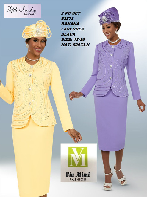 FIFTH SUNDAY #52873__ 2 PC SET  COLOR: BANANA, LAVENDER  SIZE: 12-26  HAT: 52873-H  FOR MORE IMFORMATION AND PRICE PLEASE GIVE US A CALL   WE BEAT  ALL PRICES !!!!  VIA MIMI FASHION  1333 S. SANTEE ST.  LA,CA.90015  TEL: (213)748-MIMI (6464)  FAX: (213)749-MIMI (6464)  E-Mail: mimi@viamimifashion.com  http://viamimifashion.com  https://www.facebook.com/viamimifashion    https://www.instagram.com/viamimifashion  https://twitter.com/viamimifashion