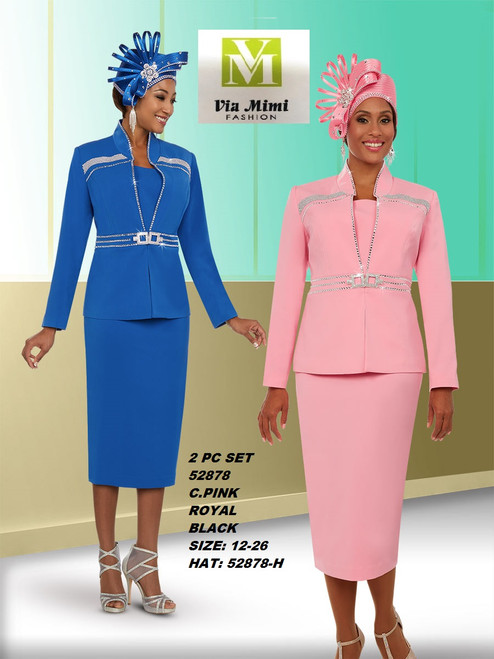 FIFTH SUNDAY #52878__ 2 PC SET  COLOR: C. PINK, ROYAL, BLACK  SIZE: 12-26  HAT: 52878-H  FOR MORE IMFORMATION AND PRICE PLEASE GIVE US A CALL   WE BEAT  ALL PRICES !!!!  VIA MIMI FASHION  1333 S. SANTEE ST.  LA,CA.90015  TEL: (213)748-MIMI (6464)  FAX: (213)749-MIMI (6464)  E-Mail: mimi@viamimifashion.com  http://viamimifashion.com  https://www.facebook.com/viamimifashion    https://www.instagram.com/viamimifashion  https://twitter.com/viamimifashion
